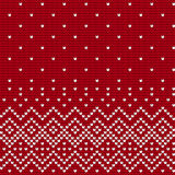 Traditional knitting pattern for Ugly Sweater Royalty Free Stock Image
