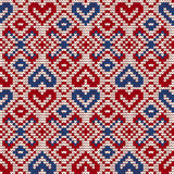 Traditional knitting pattern for Ugly Sweater Stock Photography
