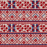 Traditional knitting pattern for Ugly Sweater Stock Photos