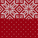 Traditional knitting pattern for Ugly Sweater Stock Image