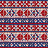 Traditional knitting pattern for Ugly Sweater Stock Images