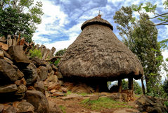 Traditional Konso tribe house, Ethiopia. Traditional Konso tribe house in Karat Konso, Ethiopia Stock Images