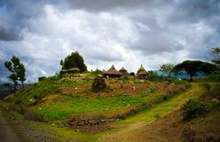 Traditional Konso tribe village in Karat Konso, Ethiopia. Traditional Konso tribe village in Karat Konso in Ethiopia royalty free stock photos