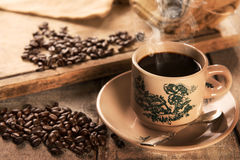 Traditional kopitiam style Hainan coffee in vintage mug Royalty Free Stock Photo