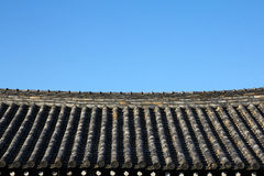 Traditional Korea Hanok house rooftop Stock Images