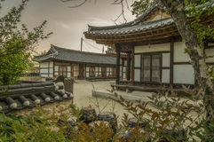Traditional Korea. A picture of newly built houses in the Traditional Korean style Royalty Free Stock Photography