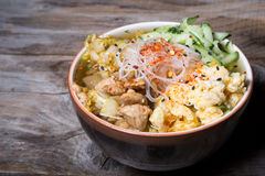 Traditional koream soup. Dish on wooden board Stock Photography