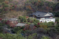 Traditional Korean architecture building mountain Royalty Free Stock Photography