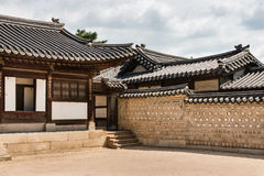 Traditional korean architecture at Changdeokgung Palace in Seoul, South Korea Royalty Free Stock Photo