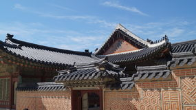 Traditional Korean architecture. Fragment. Royalty Free Stock Image