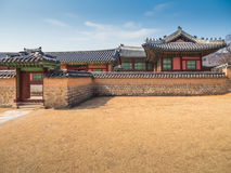 Traditional Korean architecture at Gyeongbokgung Palace Stock Images
