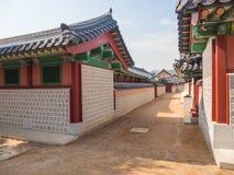 Traditional Korean architecture at Gyeongbokgung Palace Royalty Free Stock Photos