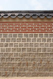 Traditional Korean boundary wall Stock Image