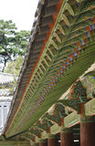Traditional Korean ceremonial building Royalty Free Stock Images