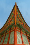 Traditional korean decor of village house Royalty Free Stock Images
