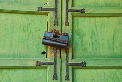 Traditional Korean door Stock Photo