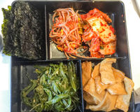 Traditional Korean food. Fresh Korean food as aphetizer Royalty Free Stock Photography