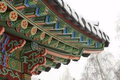 Traditional Korean garden gazebo Stock Photography
