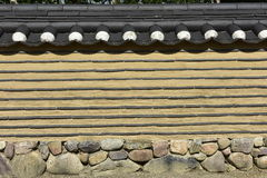 Traditional Korean Garden Wall, Berlin, Germany Royalty Free Stock Photo