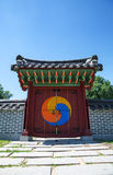 Traditional Korean gate Stock Photo