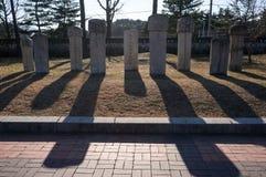 Traditional Korean gravestones Stock Photos