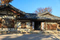 Traditional Korean hanok house
