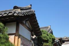 Traditional Korean Hanok Houses Stock Photo