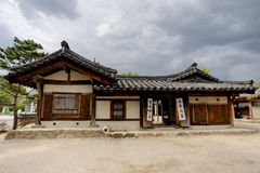 Traditional Korean House Royalty Free Stock Photo