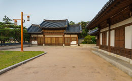 Traditional Korean houses Royalty Free Stock Images