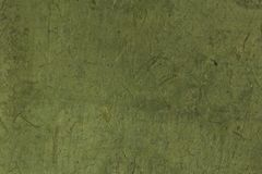 Rough green colored Korean or Japanese traditional paper. stock images