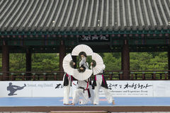 Traditional Korean Martial art Performance and Experience Event show . Stock Photos