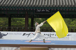Traditional Korean Martial art Performance and Experience Event show . Stock Images