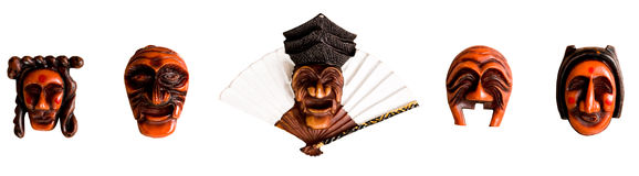 Traditional Korean Mask in a frame. Isolated on white background Royalty Free Stock Photo