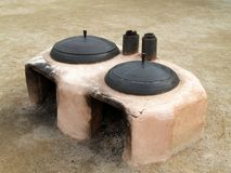 Traditional Korean Outdoor Ovens, Seoul Royalty Free Stock Images