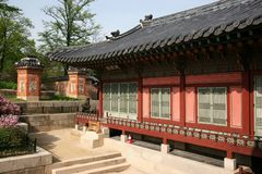Traditional Korean Palace Building Stock Photography