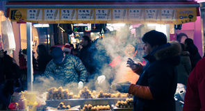 Traditional Korean street food   in South Korea. Royalty Free Stock Photography