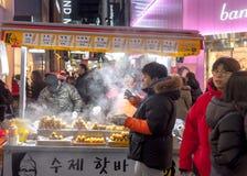 Traditional Korean street food   in South Korea. Stock Photo