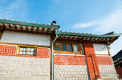 Traditional Korean style architecture. Royalty Free Stock Images