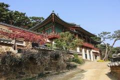 Traditional Korean-style buildings on the territory to Jeondeungsa Temple in Ganghwa-gun, Incheon, South Korea