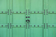 Traditional Korean style door Royalty Free Stock Photo