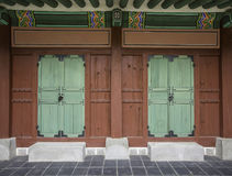 Traditional Korean style door at  Gyeongbokgung Palace. In Seoul,South Korea Stock Photo