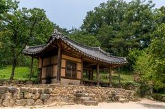Traditional Korean Temple. In a historical garden in Sosewon, South Korea stock photography