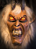 Traditional Krampus beast-like mask from Alpine region. Stock Photography
