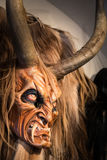 Traditional Krampus beast-like mask from Alpine region. Royalty Free Stock Photography
