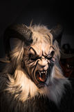 Traditional Krampus beast-like mask from Alpine region. Royalty Free Stock Images