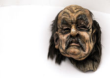 Traditional Krampus beast-like mask from Alpine region. Stock Images