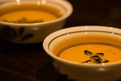 Traditional Kungfu tea cups Stock Photo