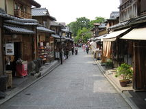 Traditional Kyoto street at well-known Gion area Royalty Free Stock Images