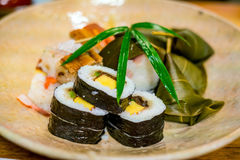 Traditional Kyoto style sushi Stock Images