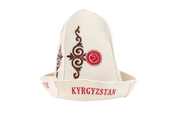 Traditional Kyrgyz hat Stock Photo